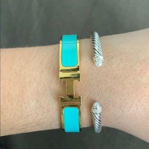 David Yurman Cable Pearl Bracelet w/ tiny flaw